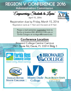 AFC Administration Commission 2016 Spring Conference Flyer
